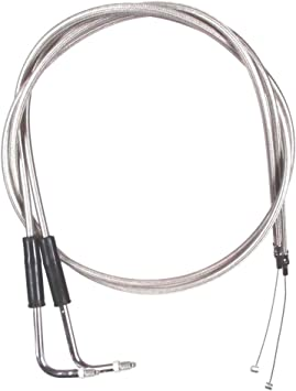 8 Throttle Cable Set for 1990-1995 Harley-Davidson Softail Custom models HC-0412-0243-FXSTC Stainless Braided