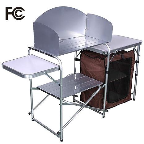 RISILAYS Cucina da Campeggio Camping Mobile Cucina da Esterni - con ...