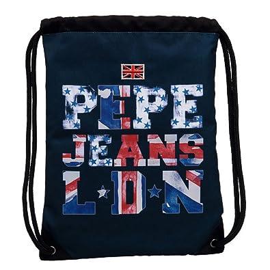 Pepe Jeans Mochila Saco, 1 Lt, Color Azul: Amazon.es: Zapatos y complementos