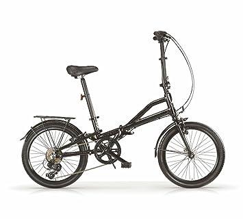 Bicicleta plegable MBM Metrò, cuadro de aluminio, manillar ajustable, 6 velocidades, ruedas