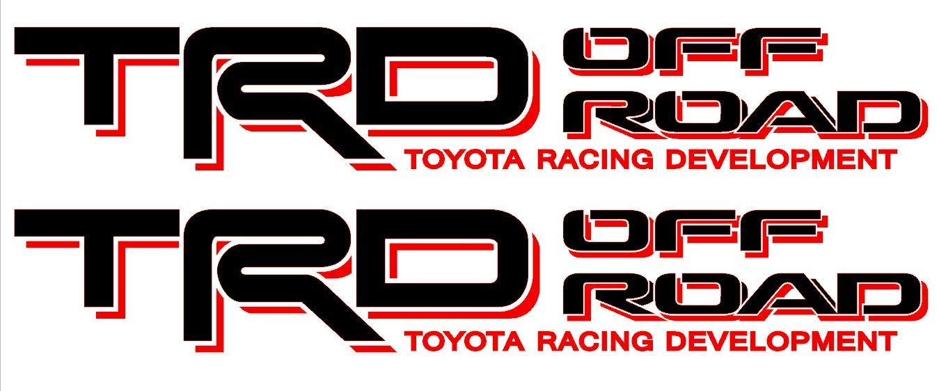 Toyota TRD Off Road 4x4 Sticker Decal Red/ Black