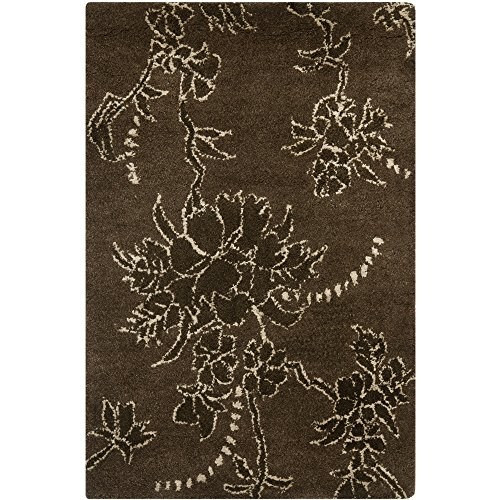 Safavieh Soho Collection SOH512A Handmade Brown Premium Wool Area Rug (2' x 3')