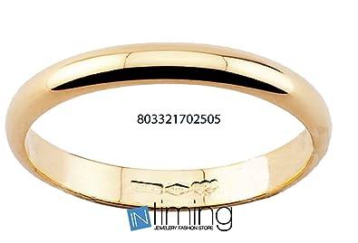 Anillo de Matrimonio, Oro Amarillo, 18 quilates 3 gramos, 4 mm Ancho ...