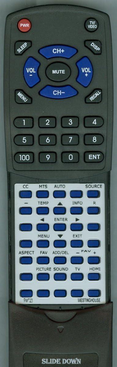 EU40F1G1 DWM40F1G1 RTRMT23 RMT23 CW50T9XW Replacement Remote Control for WESTINGHOUSE RMT-23