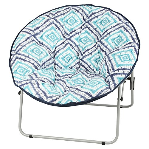 Tie Dye Diamond - Saucer Fur-Faux Over sized Chair