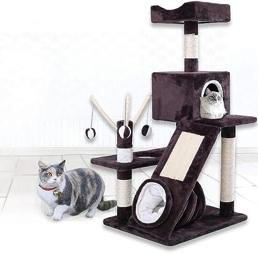 Árbol Rascador para Gatos,114 Cm Rascador de Suelo a Techo para Gatos,Poste Escalador de Sisal Natural,Árbol para Gatos Extensible, Arbol Rascador Actividades con Poste para Gato: Amazon.es: Hogar