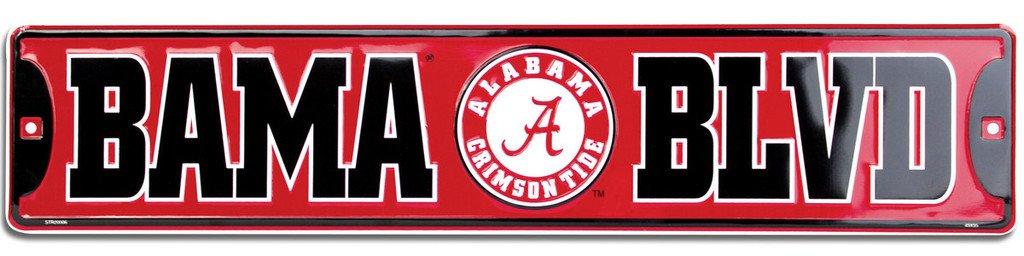 Alabama, BAMA BLVD, Street Sign (Crimson Tide)