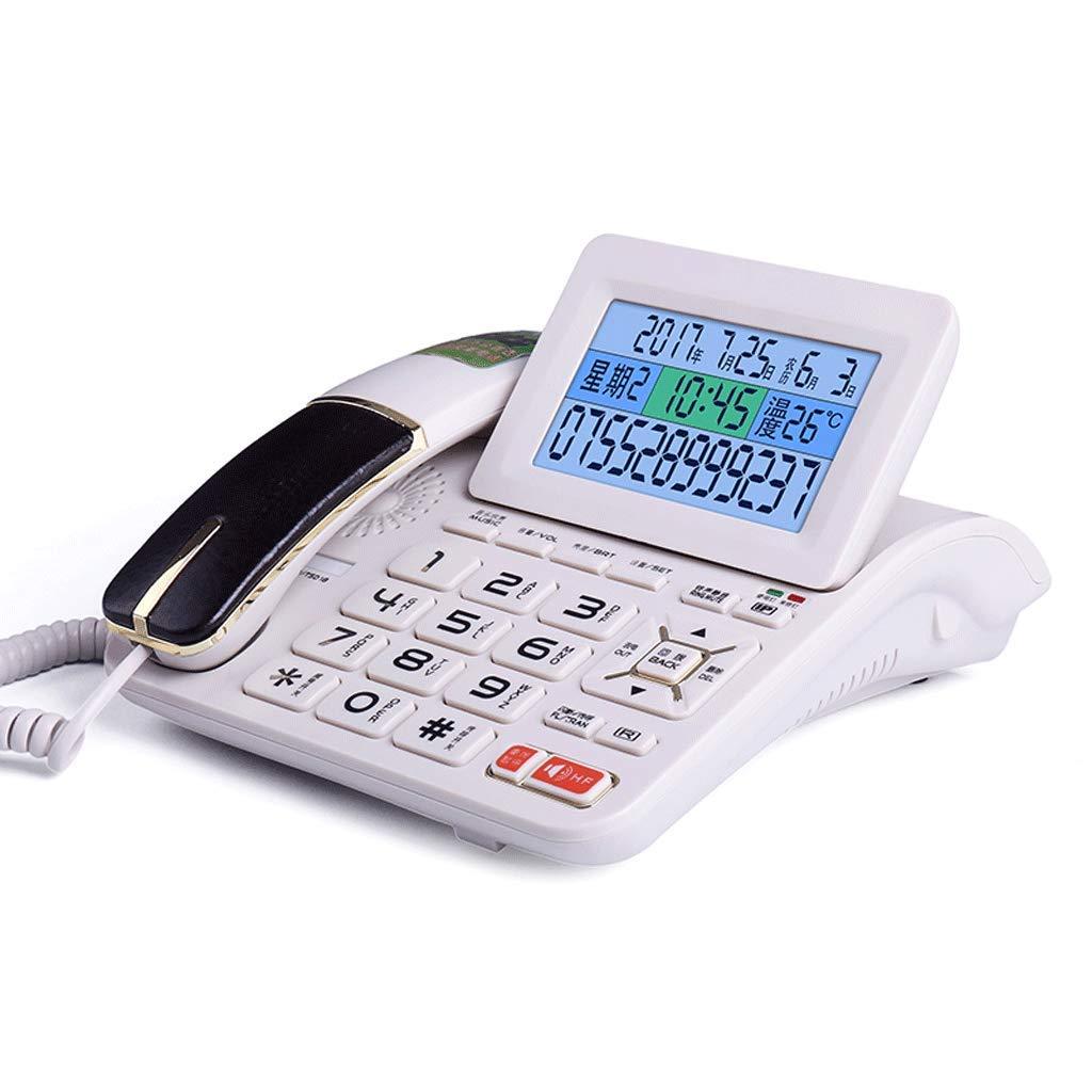 LCSHAN レトロ電話クリエイティブミニマリストオフィスホーム有線固定固定電話 (Color : White)  White B07K14FPKJ