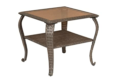 La Z Boy Outdoor Resin Wicker Patio Furniture Side Table