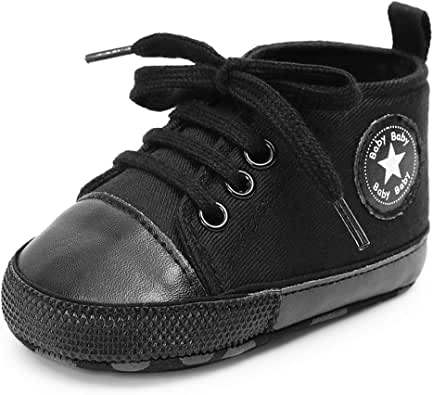 Antheron Baby Girls Boys Canvas Shoes Soft Sole Toddler ...
