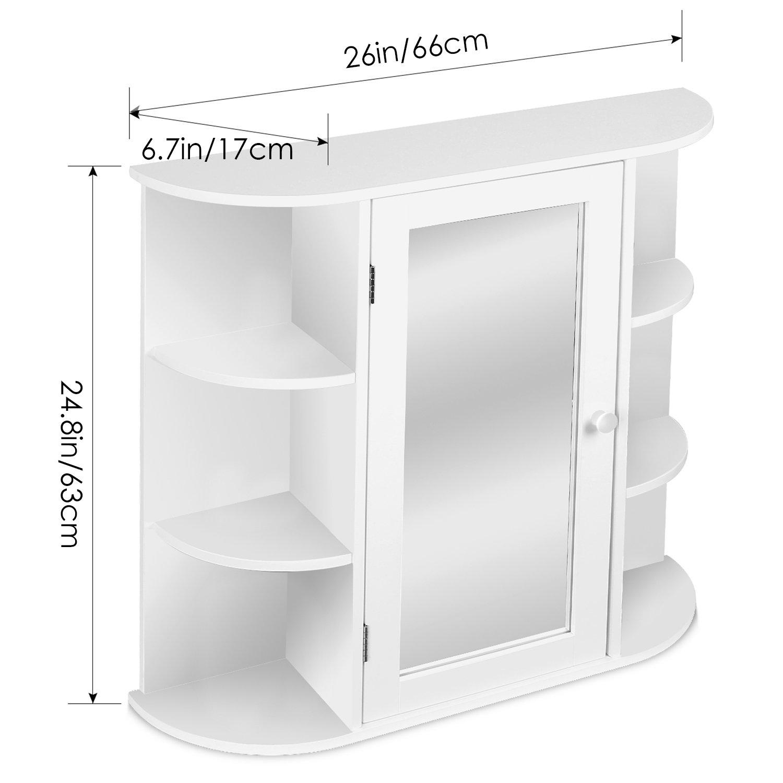 Kitchen Wall Organizer: HOMFA Bathroom Wall Cabinet Multipurpose Kitchen Medicine