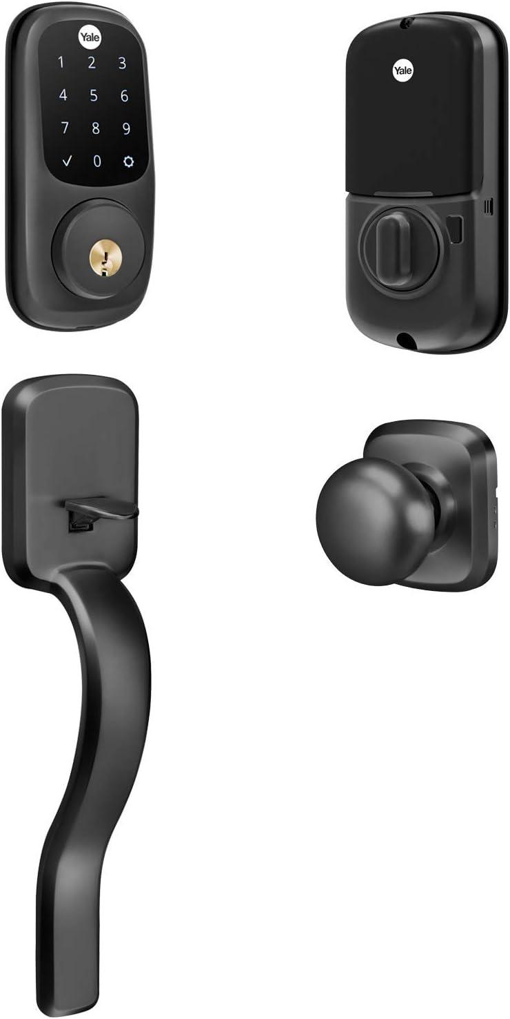 Yale Touchscreen Keypad Smart Deadbolt Single Cylinder Steel in Black Suede