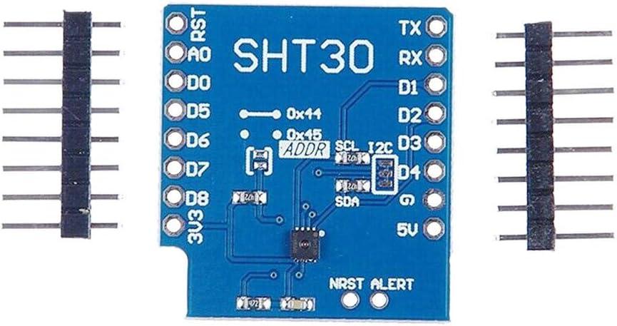 Loriver Module num/érique de temp/érature et dhumidit/é SHT30 Shield I2C pour le kit WeMos D1