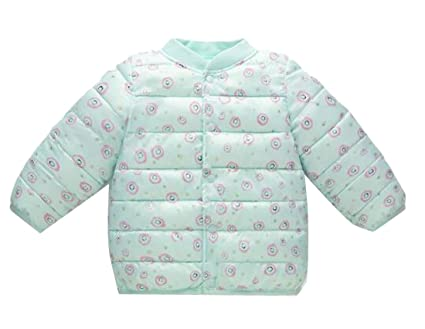 96c3b427c Amazon.com  Pandapang Girls  Winter Inner Floral Button Front Padded ...