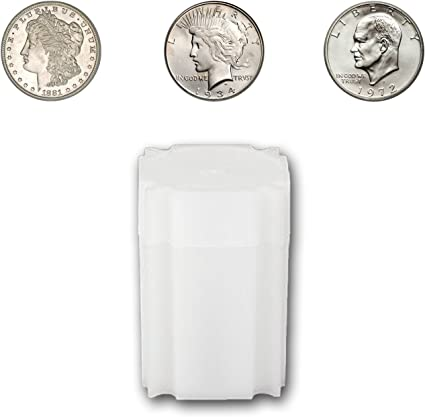 CoinSafe Silver Dollar Square Coin Storage Tube Holders for Peace Morgan Qty 5