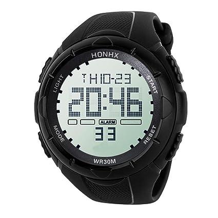 2018 Hombres de Lujo Analógico Militar Digital Deporte LED Impermeable Reloj de Pulsera