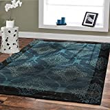 Large Premium Rugs 8x11 Modern Rug Soft Plush Rugs For Living Room 8x10 Cheap Rug Sets Navy Blue Black