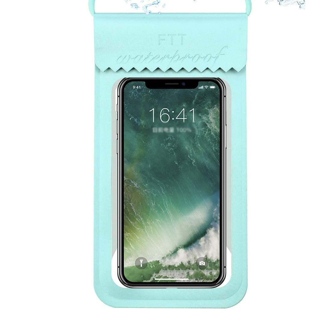 XIAMEND 10 Pieces Outdoor Mobile Phone Waterproof Bag Diving TPU Transparent Bag Swimming Touch Screen Mobile Phone Bag Universal Waterproof Case (Color : Green Size) by XIAMEND
