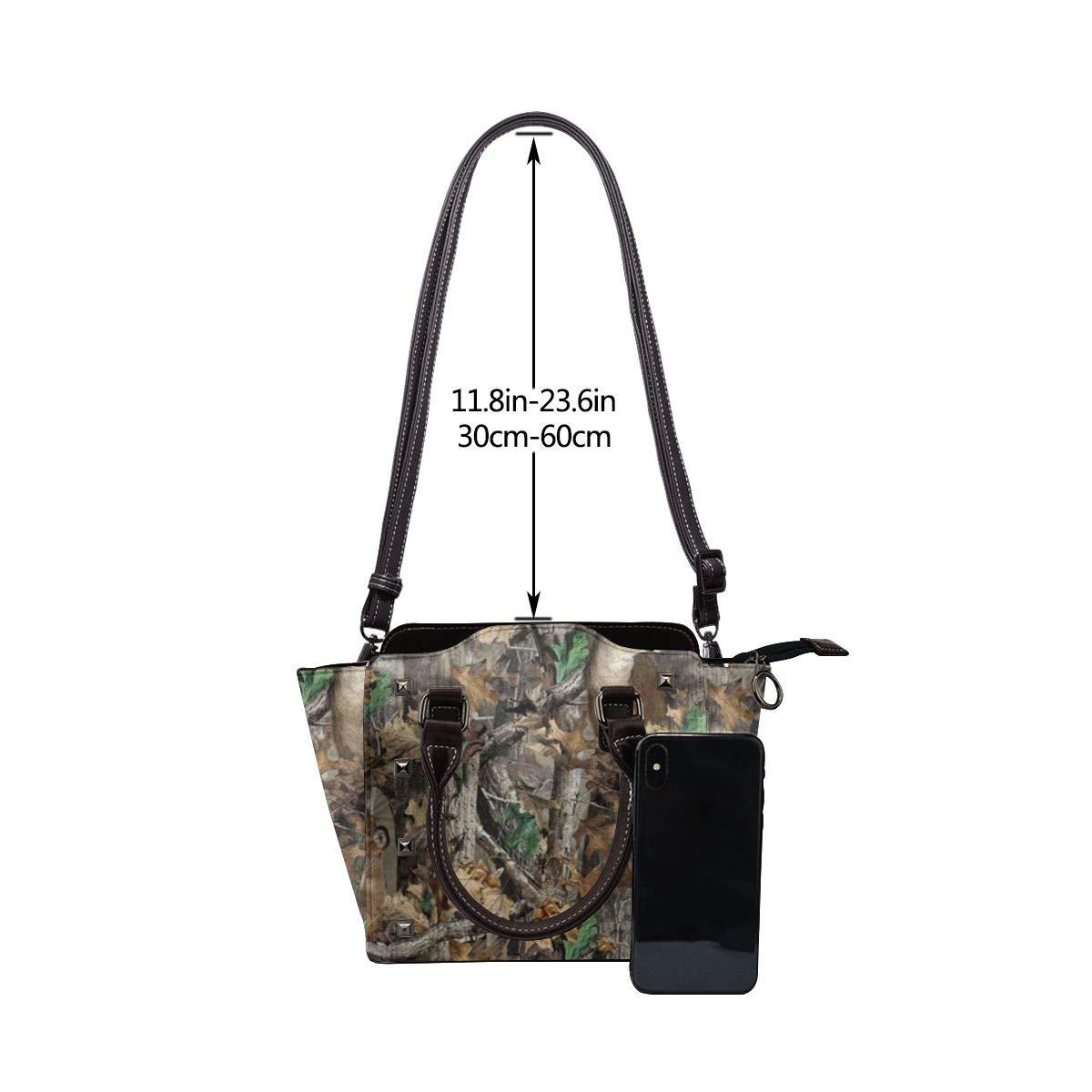 LalaQ rottweiler dam axelväska med blommönster, lyxig, elegant, äkta läder, nitar Realtree Camo bakgrundsbilder