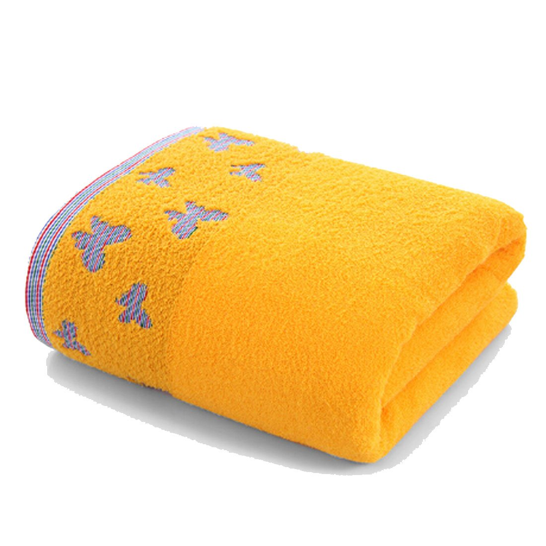 Osave Womens 100% Cotton Swimming Towel Wrap Spa Bath Shower Wrap For College Dorms, Pools, Gyms, Beaches, Locker Rooms, Bathroom, 27.3'' x 52.6'' (Yellow)