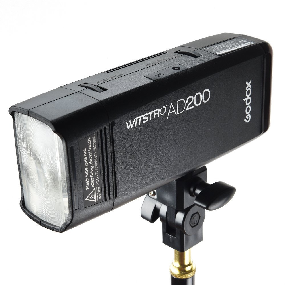 Godox AD200 200Ws 2.4G TTL Speedlite Flash Strobe 1/8000 HSS Monolight, 2900mAh Lithium Battery with BD-07 Barn Door & Honeycomb Grid and 4 Color Gel Filters by Godox (Image #3)