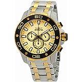 Invicta Pro Diver Homme Bracelet Acier Inoxydable Doré Quartz Montre 26080