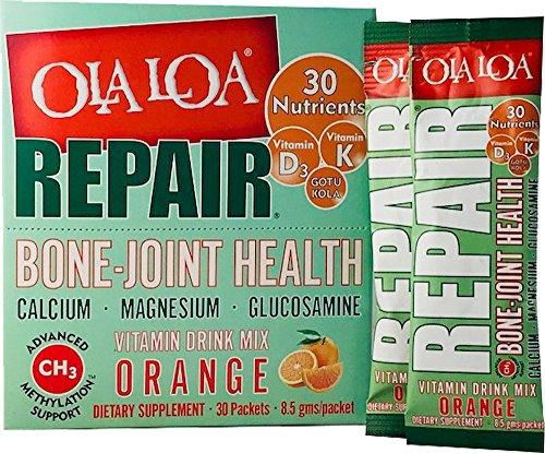 Ola Loa Repair Bone-Joint Health Supplement, Orange, 30 Count (Fruit Coq10 Tropical)