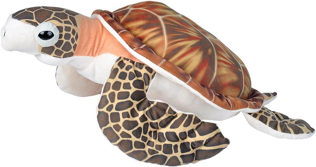 "Wild Republic Hawksbill Sea Turtle Plush, Stuffed Animal, Plush Toy, Gifts for Kids, Living Ocean 23"""