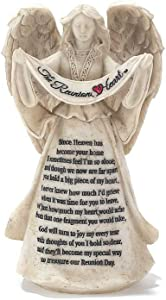 Dicksons The Reunion Heart in Memory Resin Stone 6 inch Angel Figurine