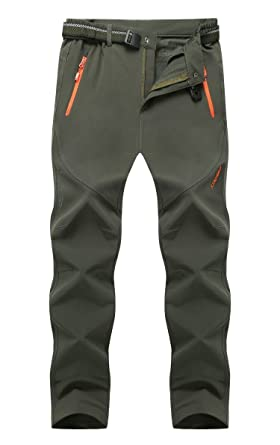 bc7555d93b Cranelin Men's Outdoor Hiking Pants Breathable Quick Dry Mountain Pants  CHW9917-Army Green-XXL