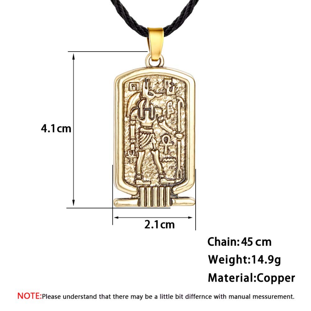 Women Pendant Necklace Ancient Egypt Religious Jewelry Egyptian Hieroglyphs Awesome Men Necklace Silver Egypt Charm