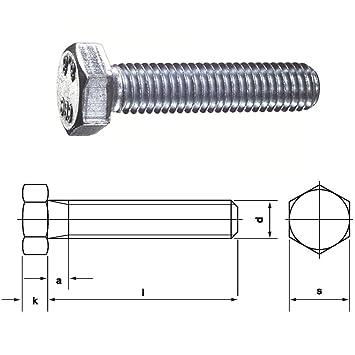 25 DIN 933 Sechskantschrauben 8.8 verzinkt M8 x 65 mm Stück