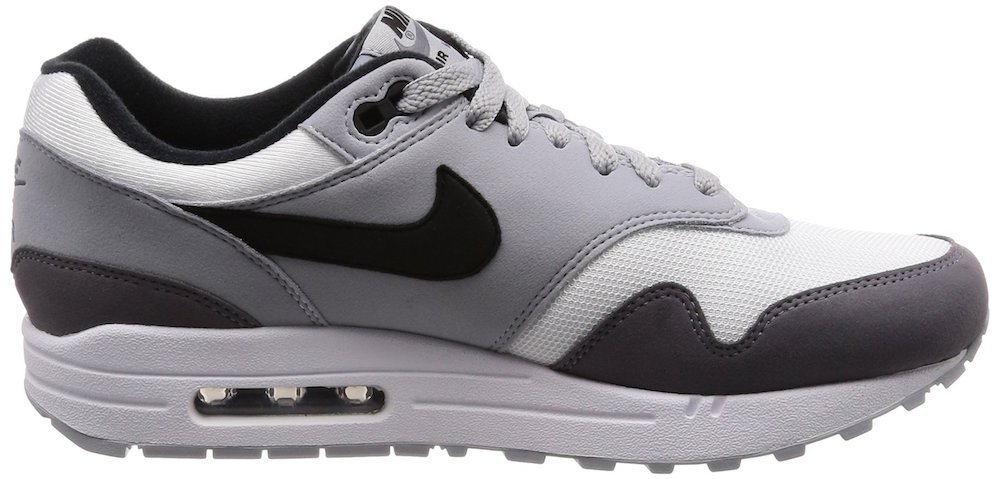 size 40 fd603 8d389 Galleon - NIKE Air Max 1 Men s Running Shoes White Black Wolf Grey Gunsmoke  Ah8145-101 (7.5 D(M) US)