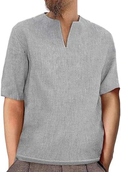 Lurcardo Camisetas Hombre, Camisetas Hombre Manga Corta Camisa de Algodon Verano Camiseta para Hombre Camisetas Hombre Camisetas Hombre Originales Moda Camiseta de Hombre: Amazon.es: Ropa y accesorios