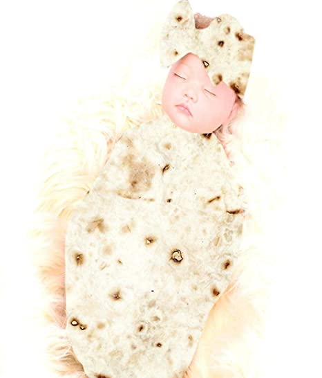buy popular 314fd c504b Verily Mexican Burrito Baby Wrap Towel Wrapped by Sleeping ...