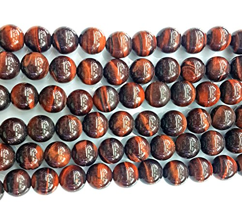 Heated 16in Strand (Bead, red tigereye (heated), 6mm round, B grade, Mohs hardness 7. Sold per 16-inch)