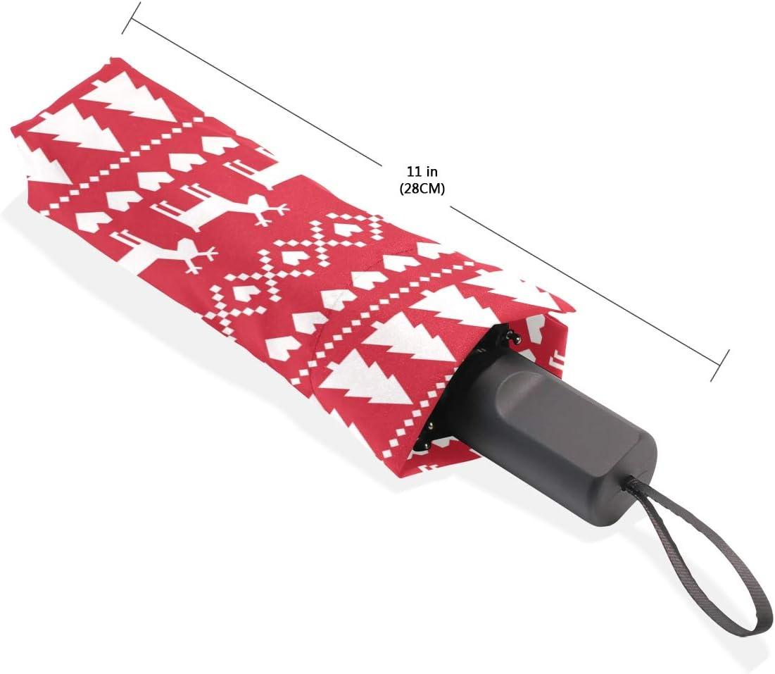 Boys Inverted Umbrella Christmas Seamless Pattern Card Scandinavian Sw Portable Compact Folding Umbrella Anti Uv Protection Windproof Outdoor Travel Women Rain Umbrella Women