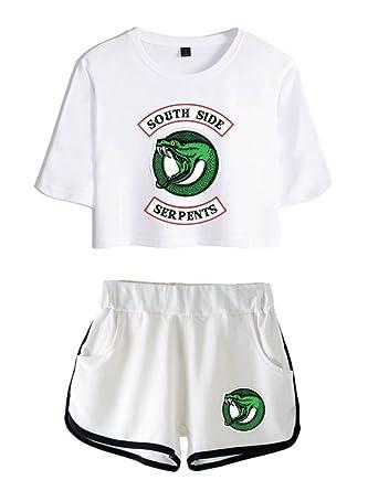 Zigjoy Riverdale Crop Top T Shirts Et Shorts Vetements Costume Pour