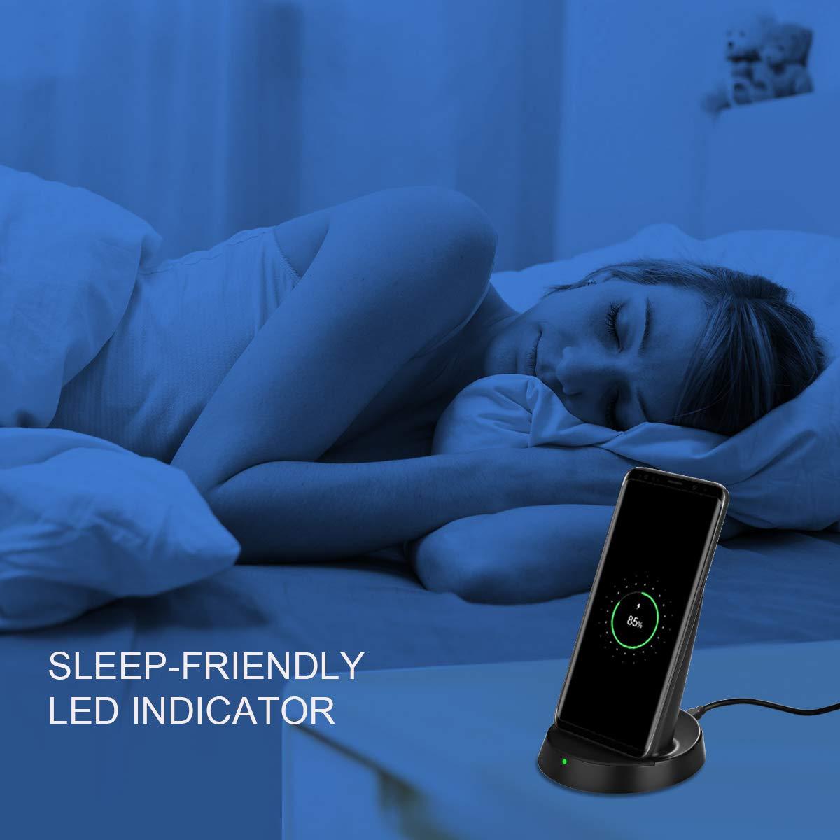 Kdely Caricatore Wireless Veloce Qi 10W Caricabatterie Senza Fili Ricarica Rapida per Galaxy S10,S10+,S10e,S9,S9+,S8,S8+,S7,Note 9, Note 8, 7.5W per iPhone XS,XS Max,XR,X,8,8Plus - Nero