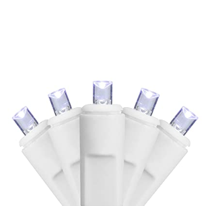 sienna set of 70 cool white led twinkling commercial wide angle icicle christmas lights white