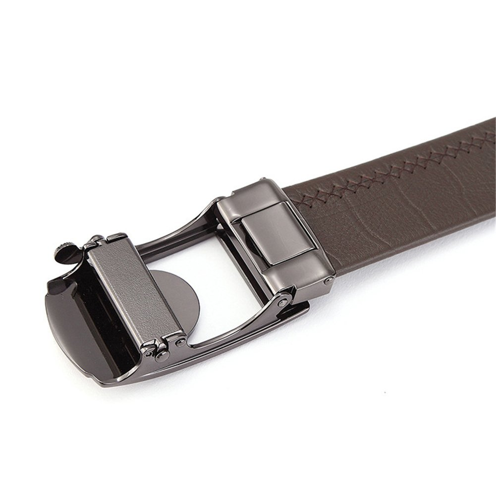 Adjustable,High-End Comfortable,Work Clothes Uniforms,A,110 Leather Automatic Buckle,Work Active Basic Leather,Casual Formal Belts XUEXUE Mens Belt