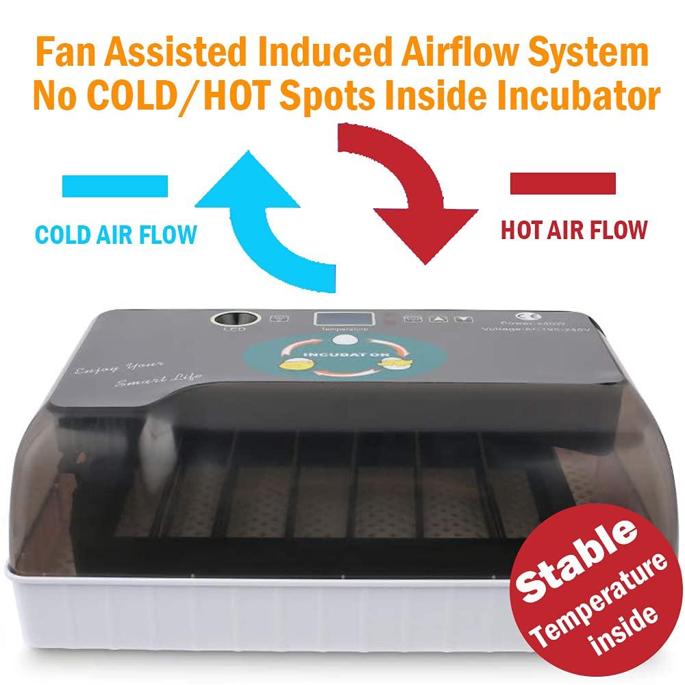 SNOWINSPRING 9 Incubadoras Incubadora de Aves de Corral con 9 Probador de Velas de Huevo con Luz LED para el Calor y la Hidrataci/óN de los Pollos Enchufe de la EU