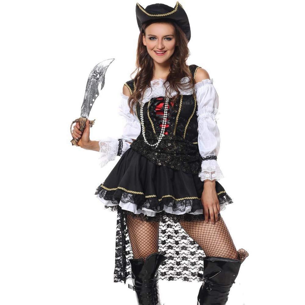 Olydmsky karnevalskostüme Damen Halloween Kostüm Cosplay Piraten Outfit Party Party Leistung Kostüme