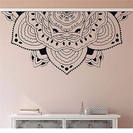 haotong11 Decoración para el hogar Medio Mandala Tatuajes de Pared Meditación Estilo Dormitorio Mural de Pared