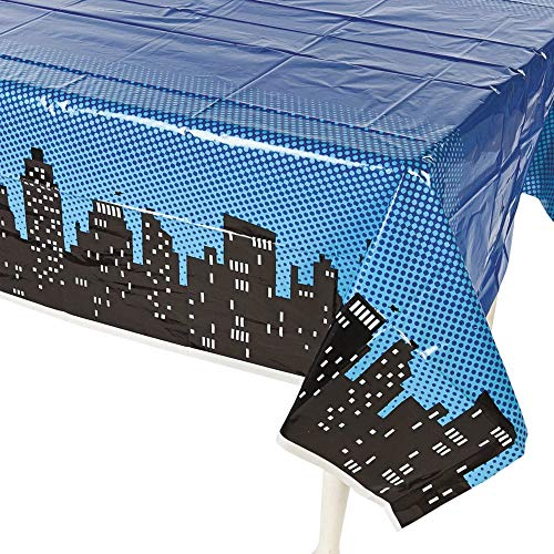 Superwoman Party Supplies (Fun Express Superhero Plastic Table Cover)