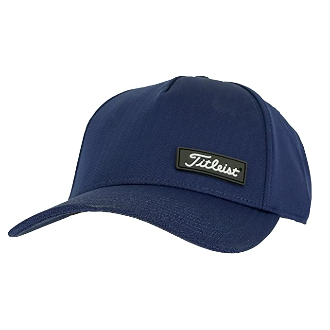 5b4420606ab ... lace up in 3d90f 5380f Amazon.com Titleist Mens West Coast Legacy Fitted  Hat NavyBlack ...