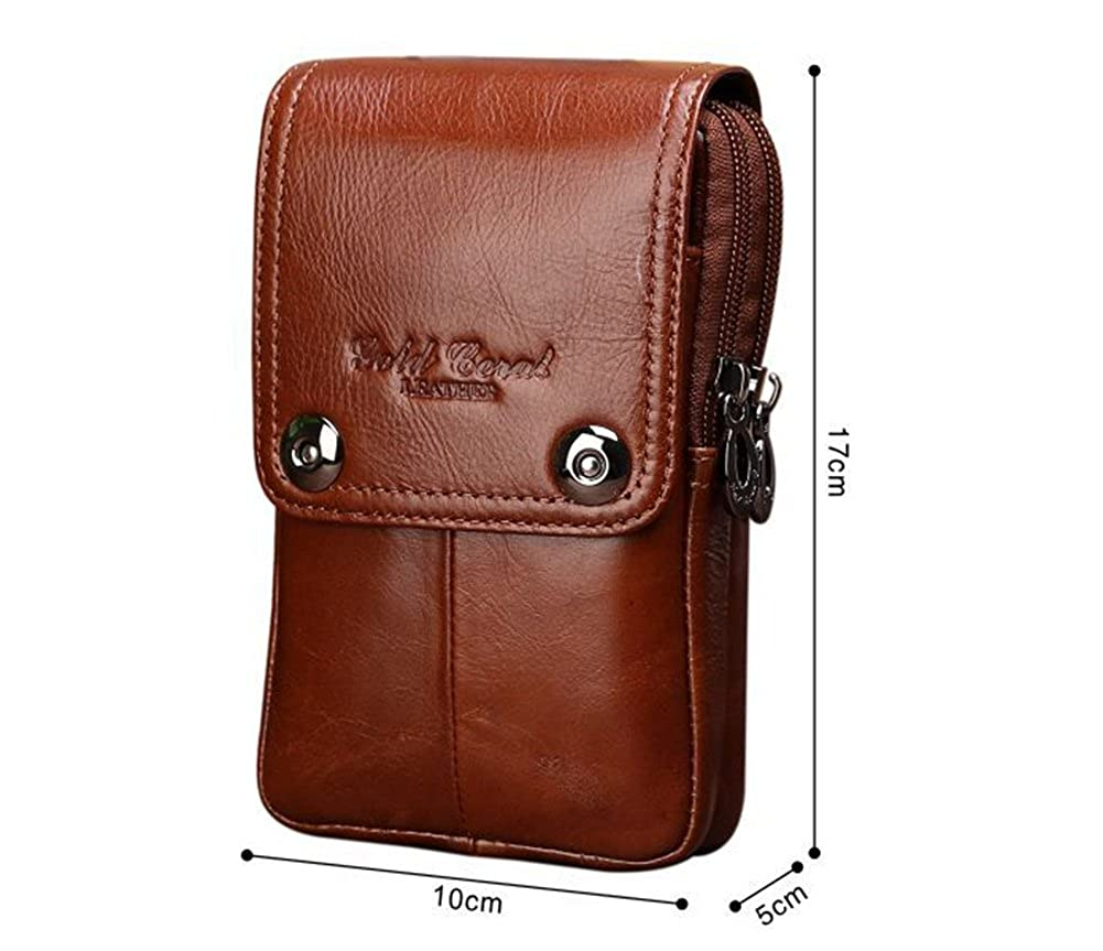 Genda 2Archer Small Leather Waist Pack Travel Messenger Bag Phone Pouch Holsters