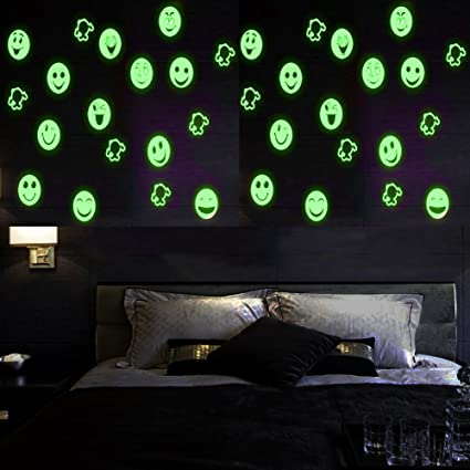 2 Sheets Glow In The Dark Wall Decals Stickers For Windows, Wall Or Car  Decoration