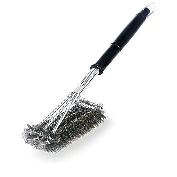 Moneil - Cepillo de parrilla de 45,7 cm, mejor limpiador para barbacoa,