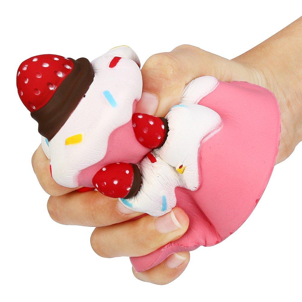 11,5 cm mignon Jumbo fraise gâteau parfumé Super lente Rising enfants jouet, Jushwa